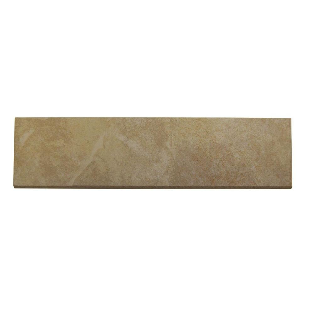 Daltile Continental Slate Persian Gold 3 In X 12 Porcelain Bullnose Floor And