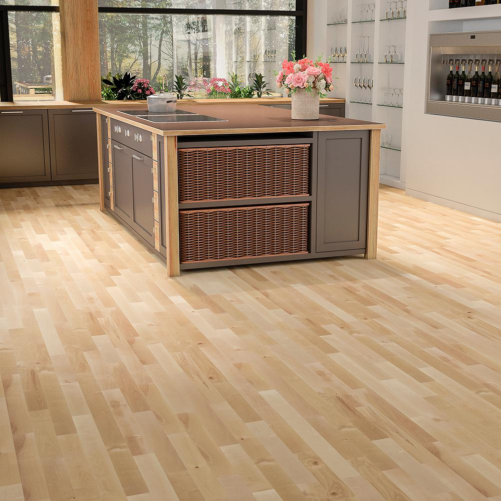 Mono Serra Canadian Northern Birch Natural 3 4 In X 3 1 4 In Wide X Varying Length Solid Hardwood Flooring 20 Sq Ft Case Hd 7013 The Home Depot