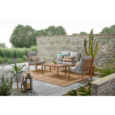 Alderton Brown Steel Metal Outdoor Coffee Table