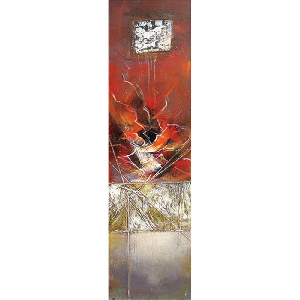 Yosemite Home Decor 20 in. x 79 in. Inner Intrigue III Hand Painted Contemporary Artwork-DISCONTINUED