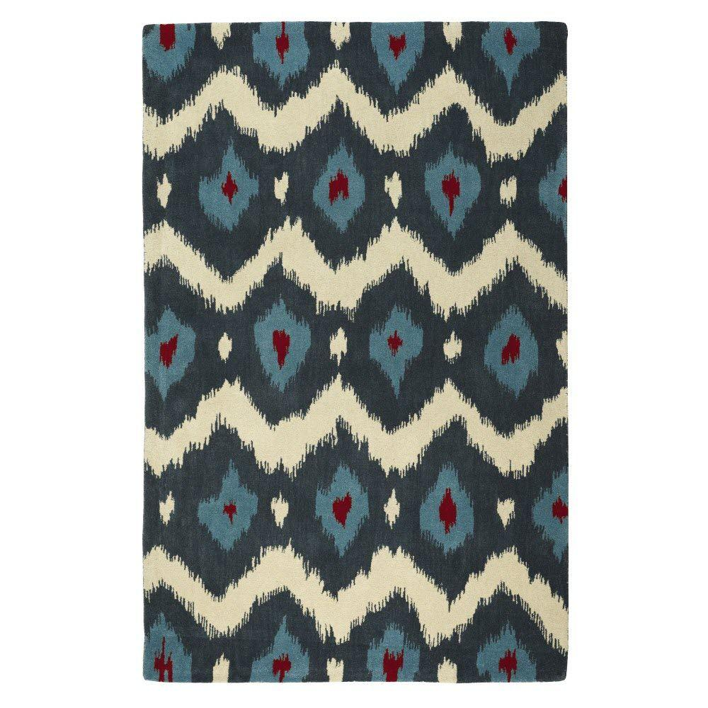 Home Decorators Collection Marquis Blue/Beige 5 ft. 3 in. x 8 ft. 3 in. Area Rug