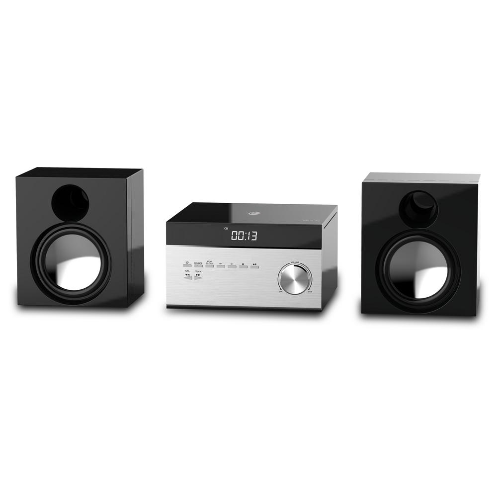 AM/FM CD Home Music System The Home Music System features executive style and sound. You can listen to CDs, AM/FM Radio or connect a smartphone and more to Aux in. There is even a remote control.