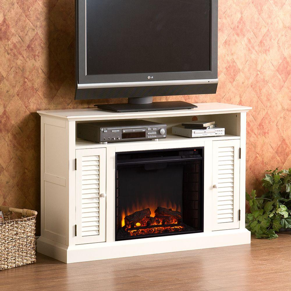 Gabriella 48 in. Freestanding Media Electric Fireplace TV Stand in Antique