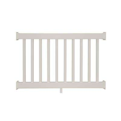 Naples 3.5 ft. H x  4 ft. W Tan Vinyl Railing Kit