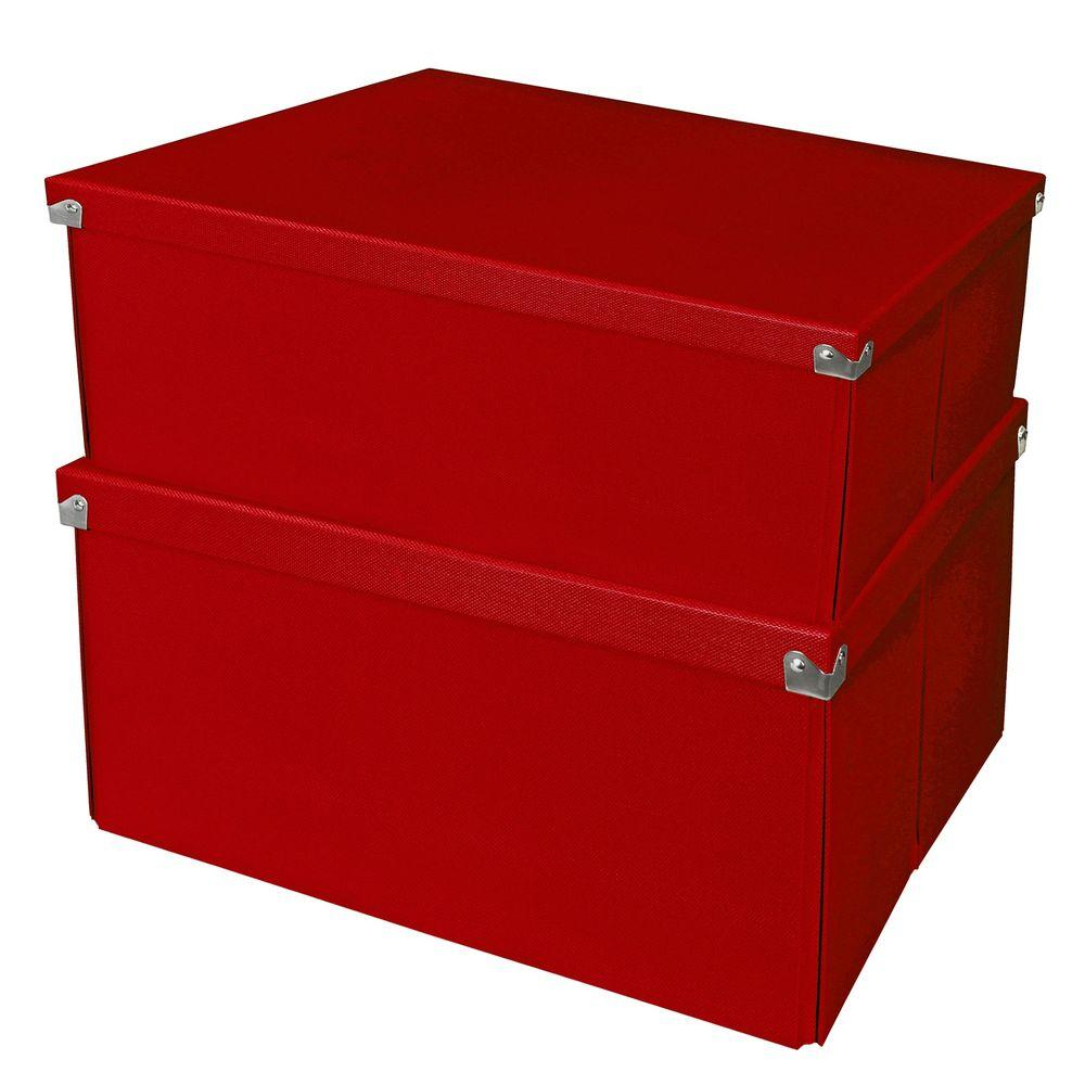 Samsill Mega Box with Lid Red (2-Pack)