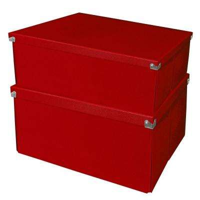 Mega Box with Lid Red (2-Pack)
