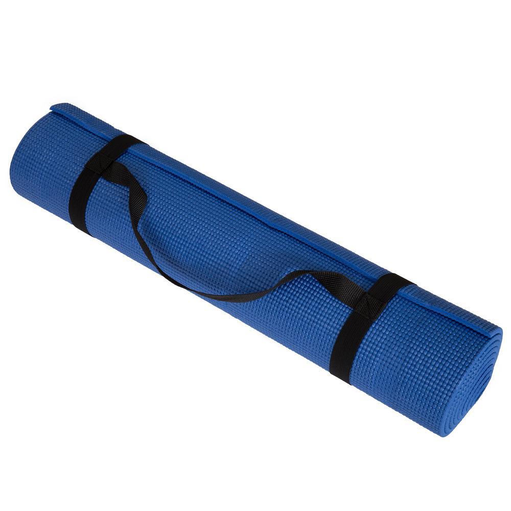 Wakeman 71 in. x 24 in. x .25 in. Double Sided Yoga Mat in Blue