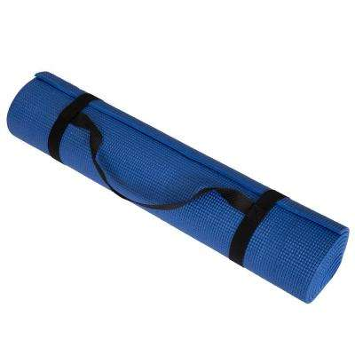 71 in. x 24 in. x .25 in. Double Sided Yoga Mat in Blue