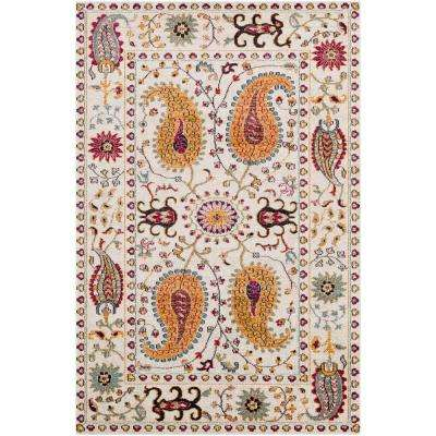 Ariane White 8 ft. x 10 ft. Indoor Area Rug