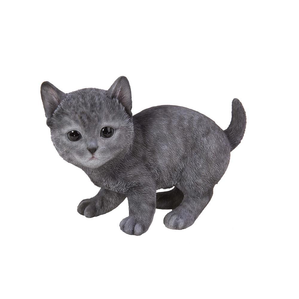 Russian Blue Kitten Statue