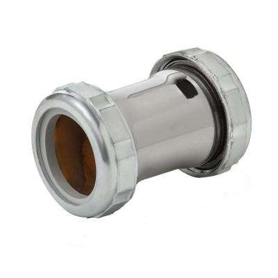 1-1/4 in. x 2 in. Slip Joint Compression Coupling, Chrome