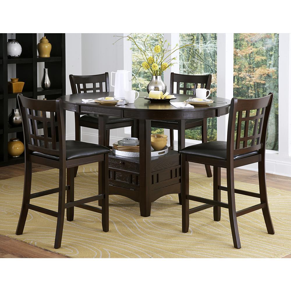 homesullivan ryoko 5 piece dark cherry bar table set 402423 36 5pc the home depot. Black Bedroom Furniture Sets. Home Design Ideas