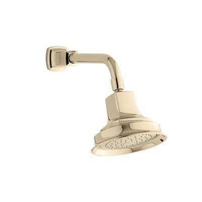 Margaux 1-spray Single Function Showerhead in Vibrant French Gold