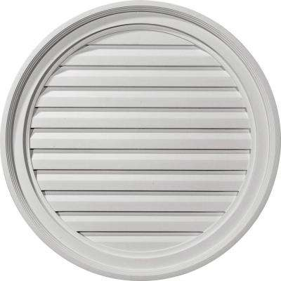 1 in. X 24 in. X 24 in. Decorative Round Gable Louver Vent