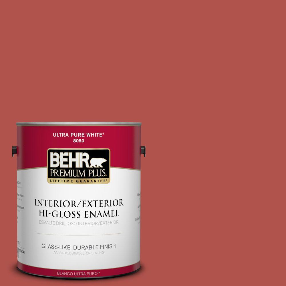 1-gal. #BIC-48 Fortune Red Hi-Gloss Enamel Interior/Exterior Paint