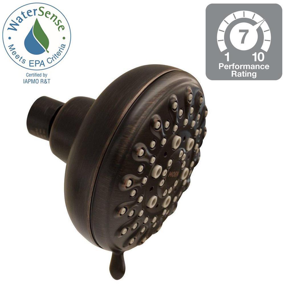 Banbury 5-Spray 4 in. Showerhead in Mediterranean Bronze