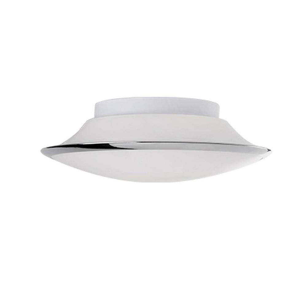 Radionic Hi Tech Troy Chrome 60-Watt Equivalence Integrated LED Ceiling Flush Mount