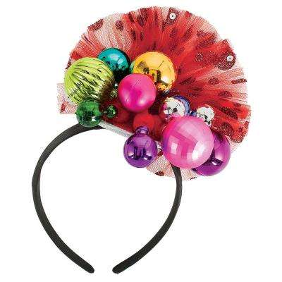 8.5 in. x 6.5 in. Ornament Couture Christmas Headband (2-Pack)