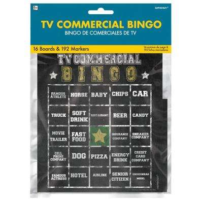 7 in. Football Commercial Bingo Game