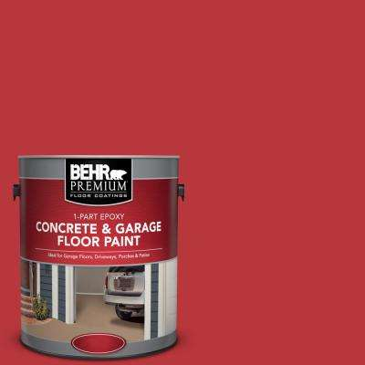 1 gal. #OSHA-5 OSHA Safety RED 1-Part Epoxy Satin Interior/Exterior Concrete and Garage Floor Paint