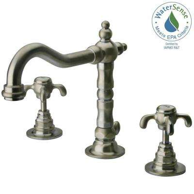 Ornellaia 8 in. Widespread 2-Handle Mid-Arc Bathroom Faucet in Brushed Nickel