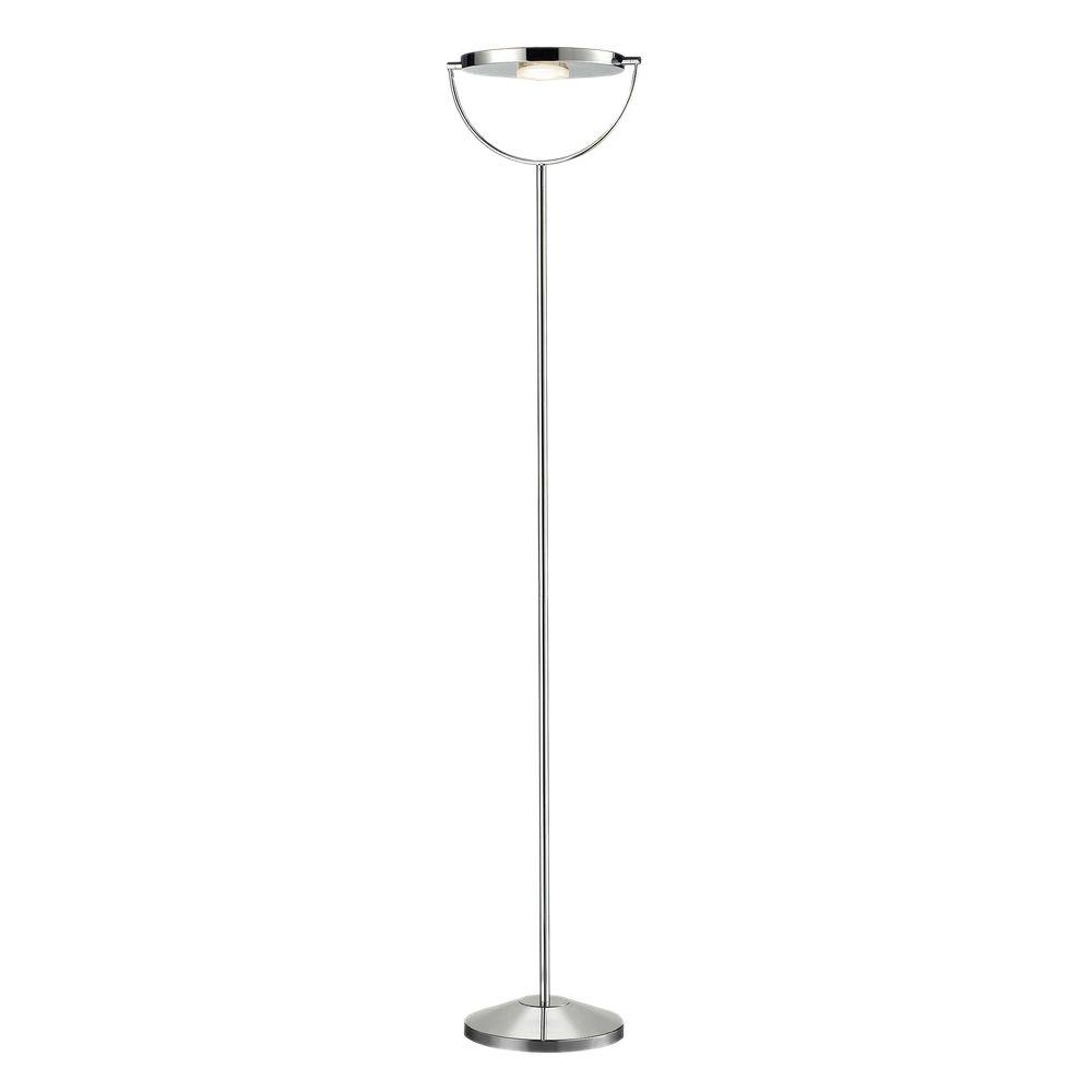 Titan lighting sanford 71 in polished chrome led floor for Led floor lamp home depot