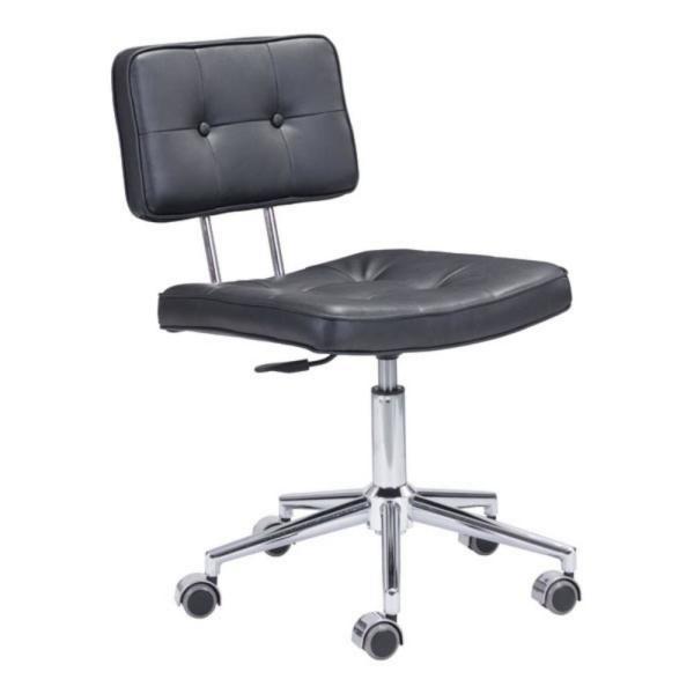Julia Black Leatherette Office Chair