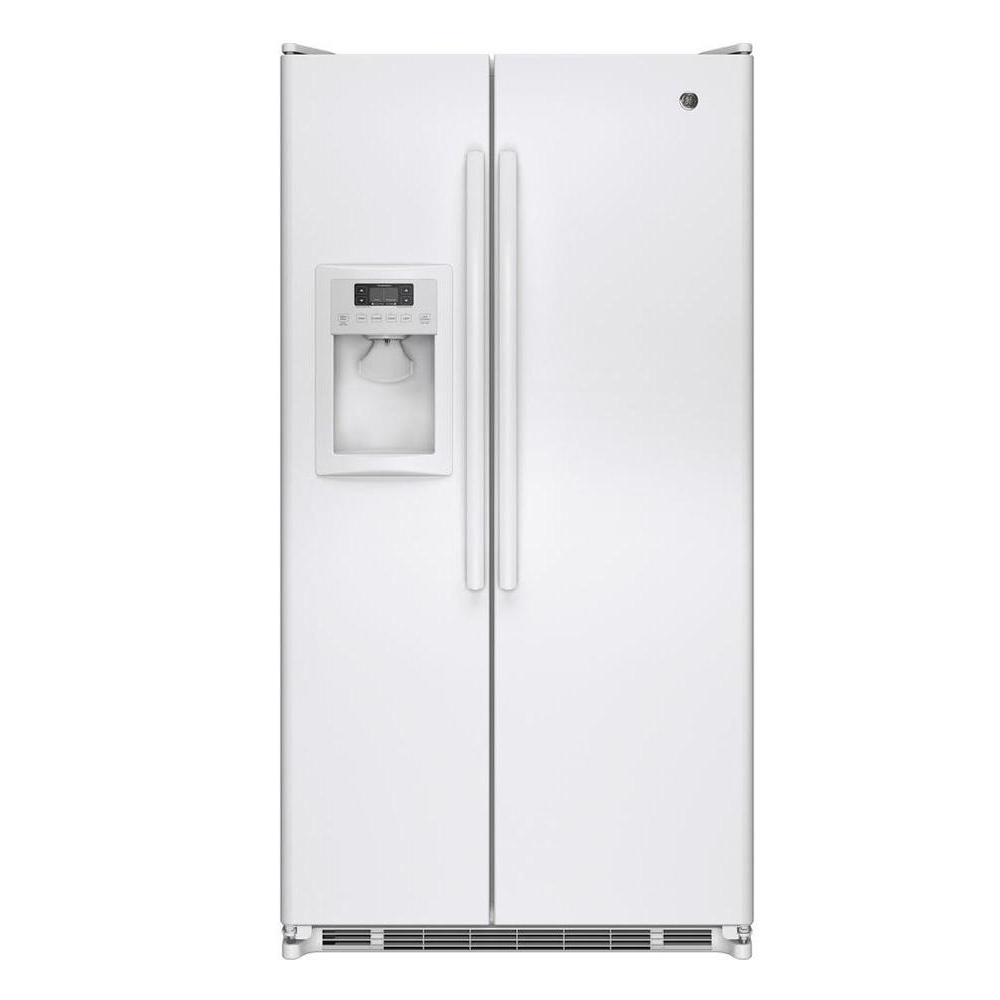 GE 24.7 cu. ft. Side by Side Refrigerator in White