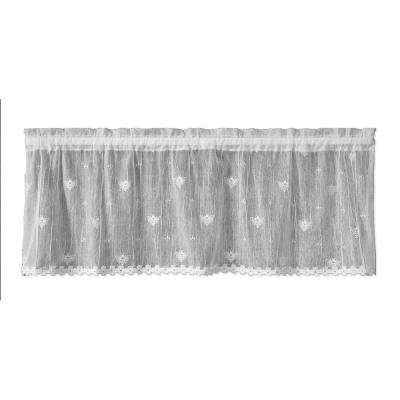 Bee 45 in. L Polyester Valance in White