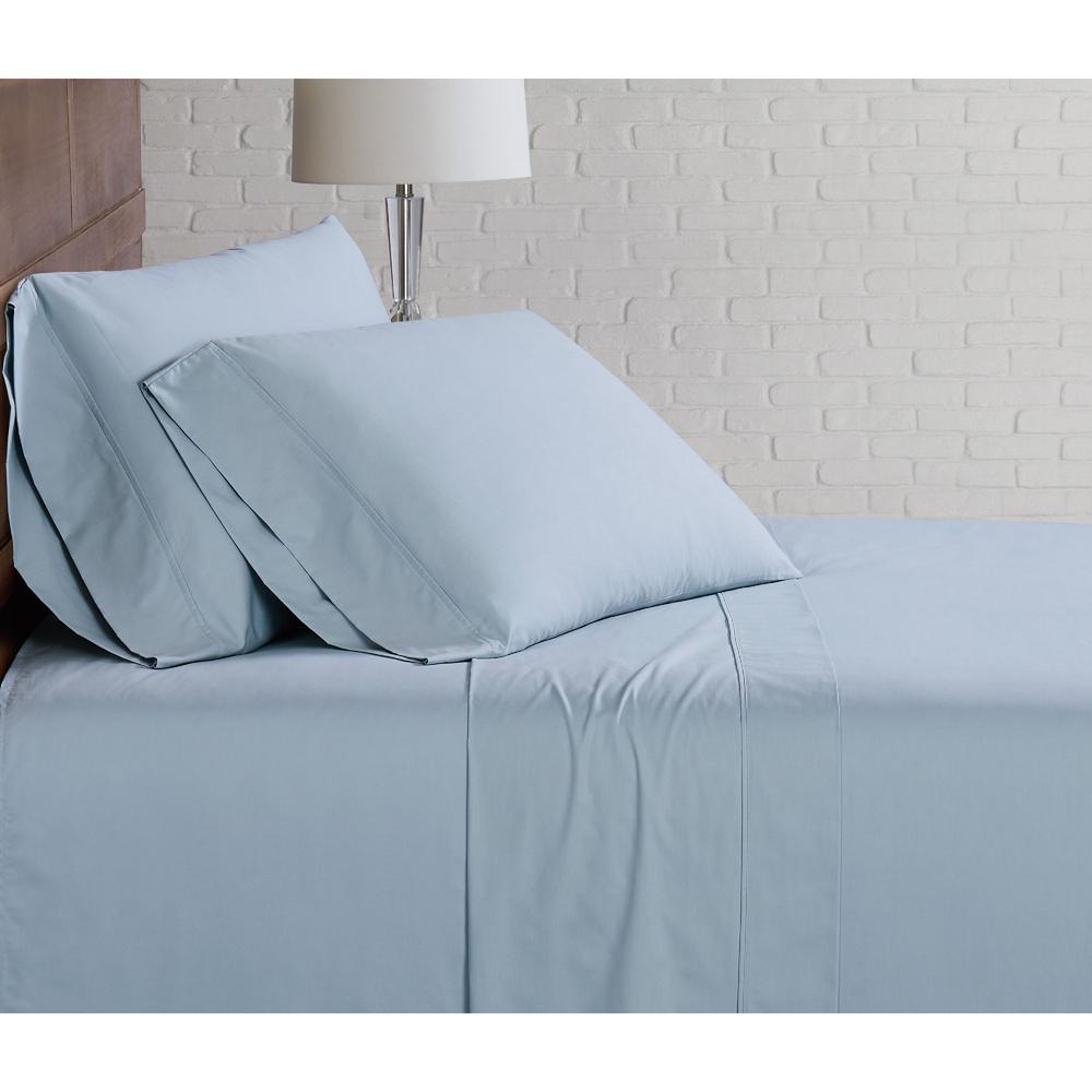 Classic Cotton Light Blue Twin Sheet Set