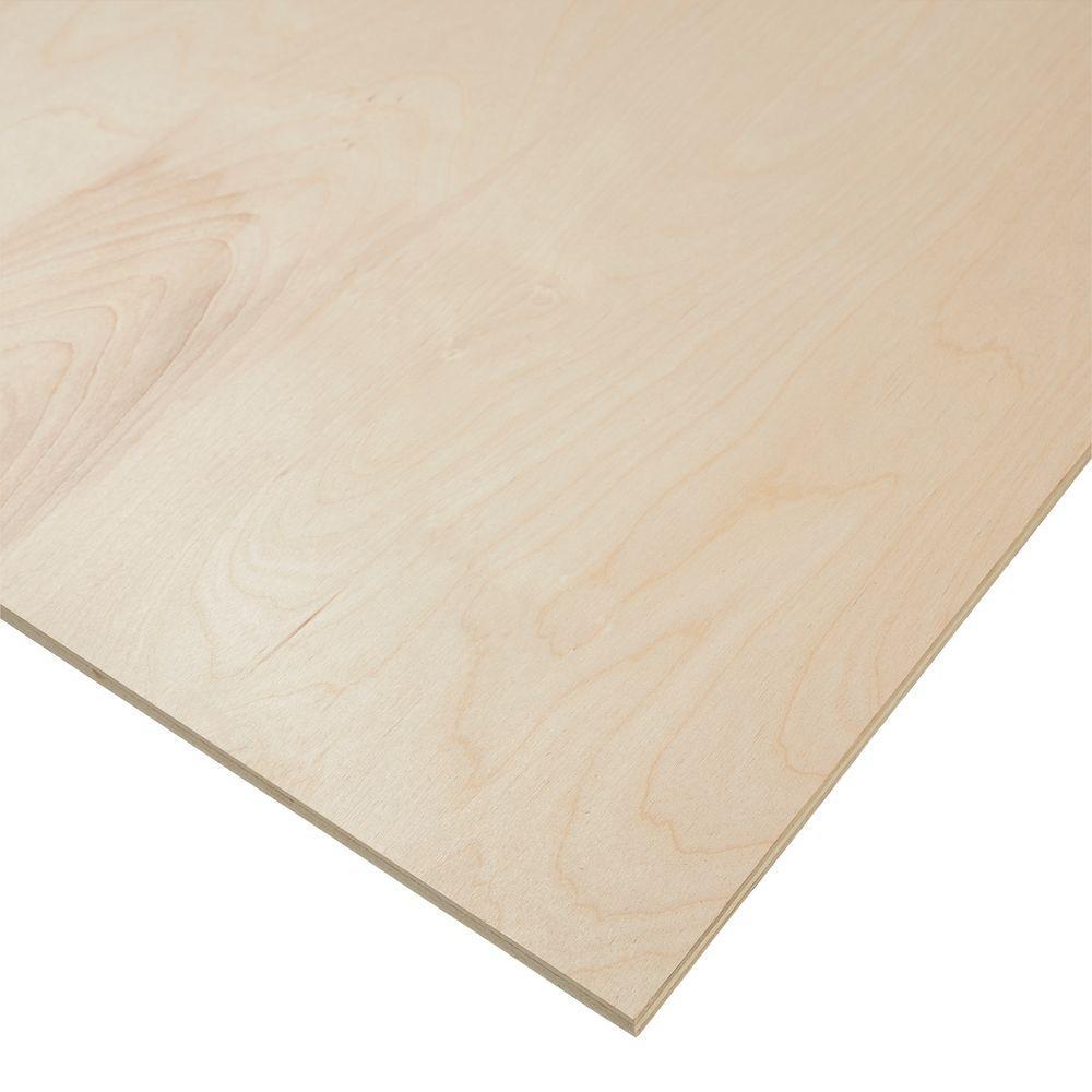 1/8 in  x 4 ft  x 8 ft  R/C C-2 Birch Hardwood Plywood-1400140 - The