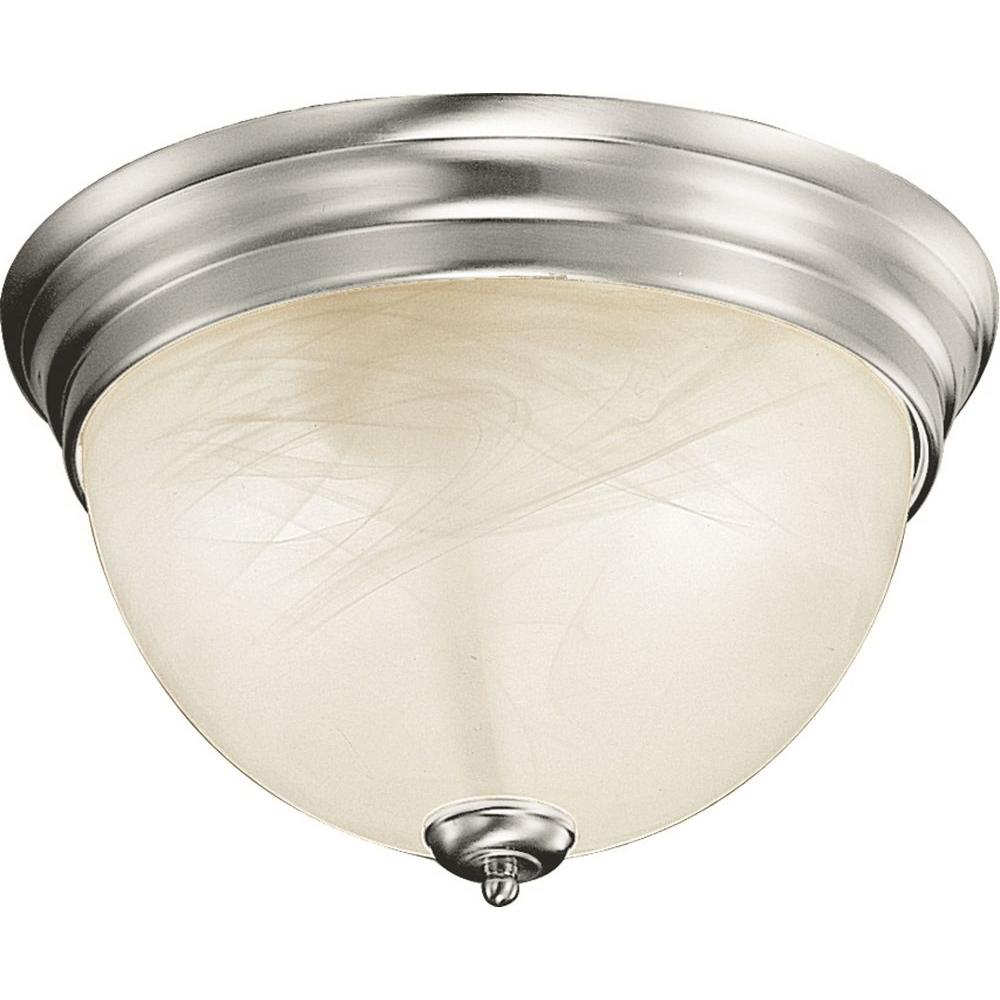 Troy 1-Light Brushed Nickel Semi-Flush Mount