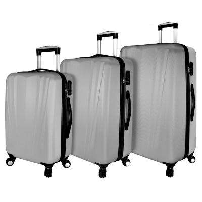 Hardside 3-Piece Spinner Luggage Set, Silver