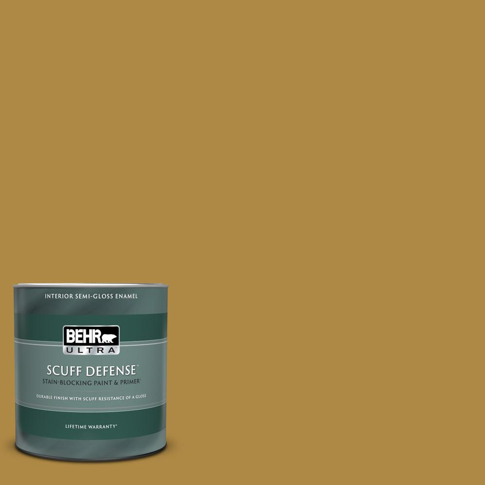 Behr Ultra 1 Qt M300 6 Indian Spice Extra Durable Semi Gloss Enamel Interior Paint And Primer In One 375304 The Home Depot