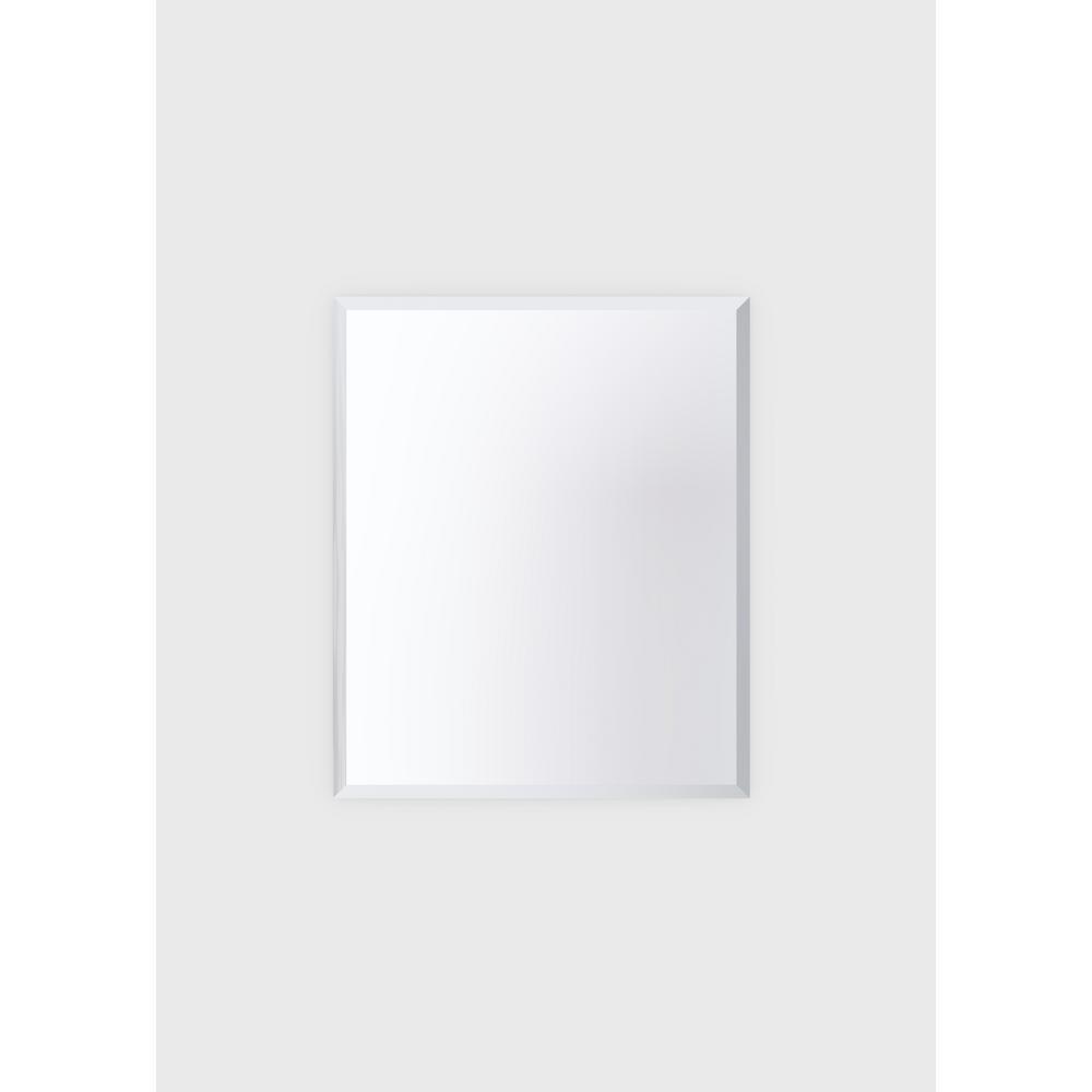 30 in. W x 36 in. H Frameless Rectangular Beveled Edge Bathroom Vanity Mirror