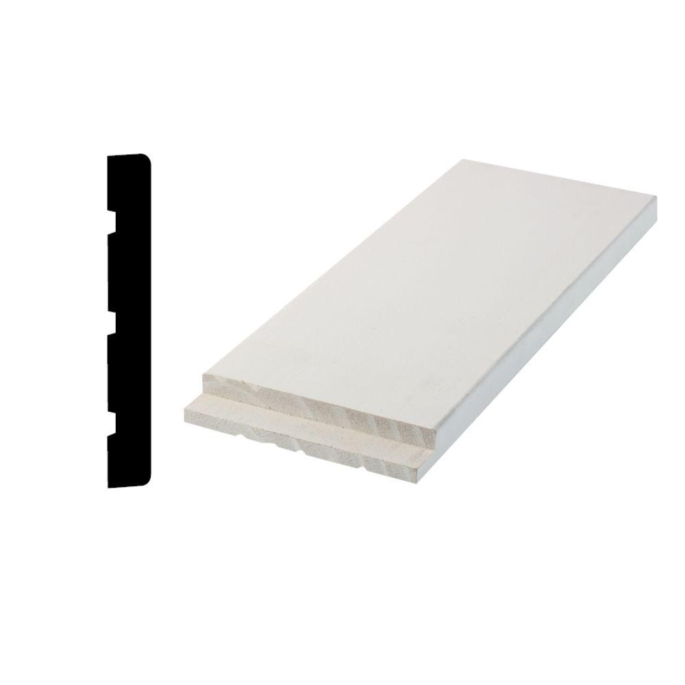 Woodgrain Millwork 11/16 in. x 4-9/16 in. x 81 in. Primed Finger-Jointed Interior Flat Door Jamb Set includes pre cut header and sides