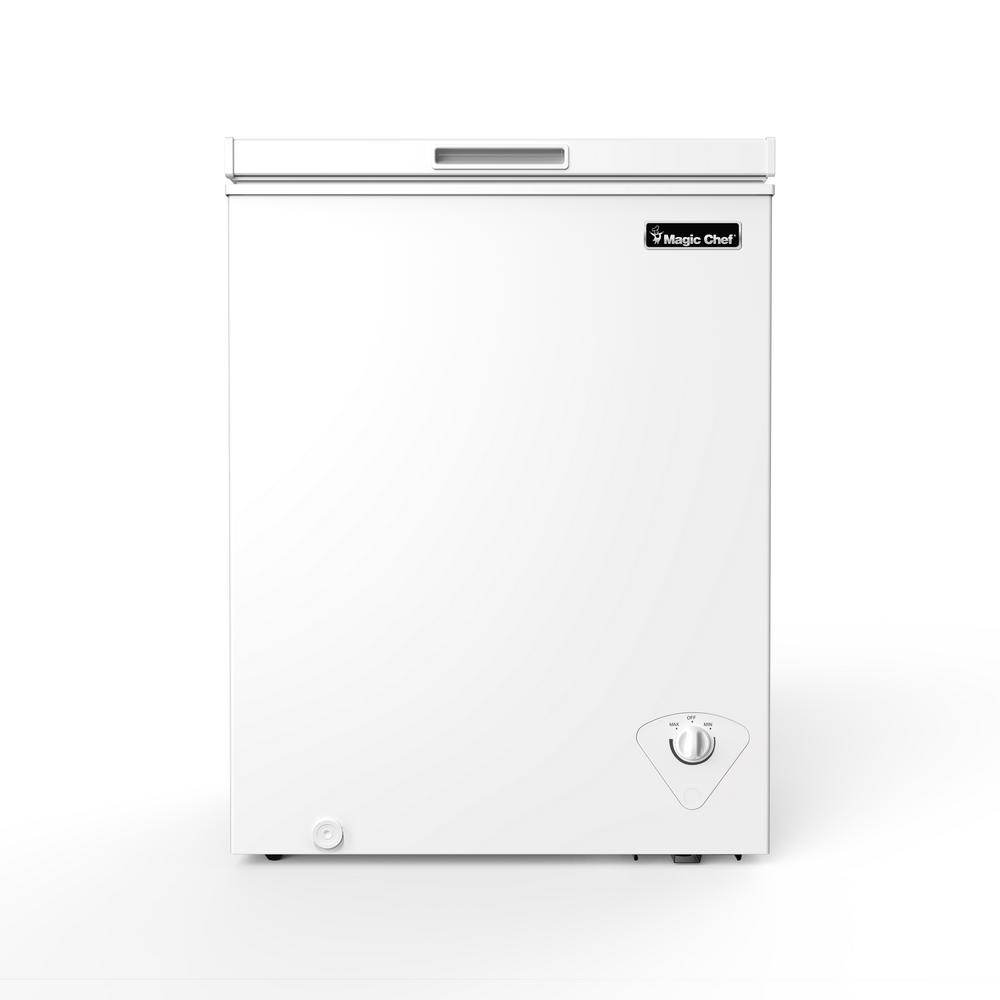 Magic Chef 5 0 Cu Ft Chest Freezer In White Hmcf5w3 The Home Depot