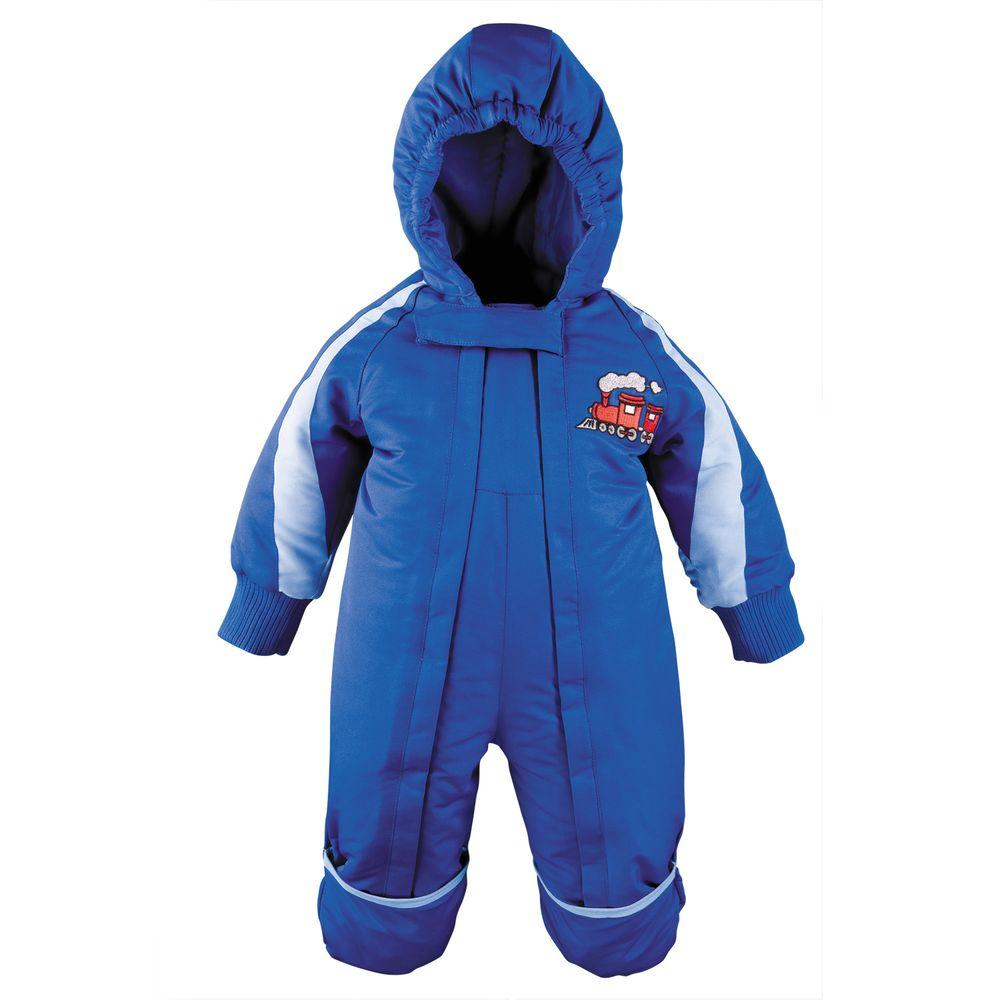 Mossi One Piece Toddler Snowsuit in Blue (12 Months)
