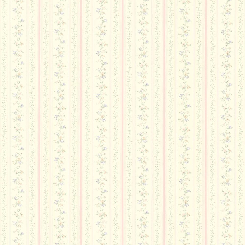 56.4 sq. ft. Estella Light Green Textured Stripe Wallpaper