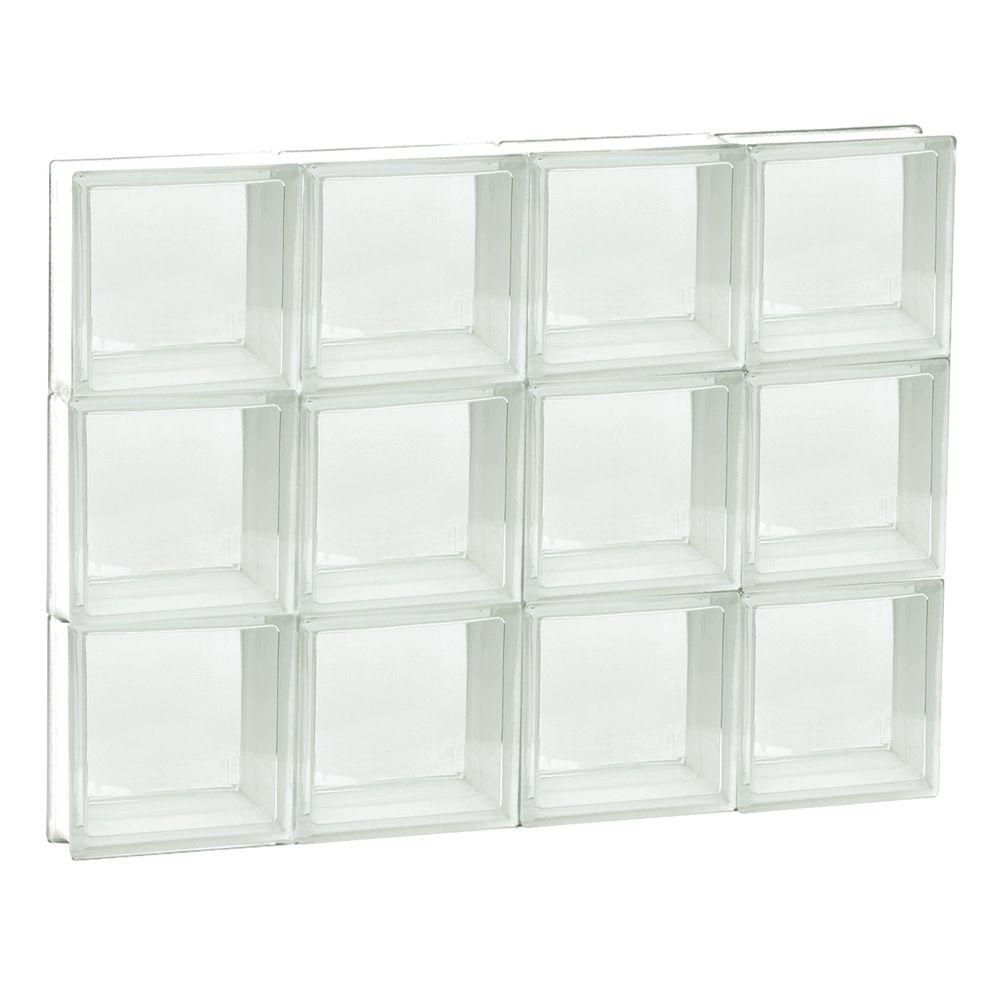 31 in. x 23.25 in. x 3.125 in. Non-Vented Clear Frameless