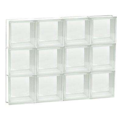31 in. x 23.25 in. x 3.125 in. Non-Vented Clear Frameless Glass Block Window
