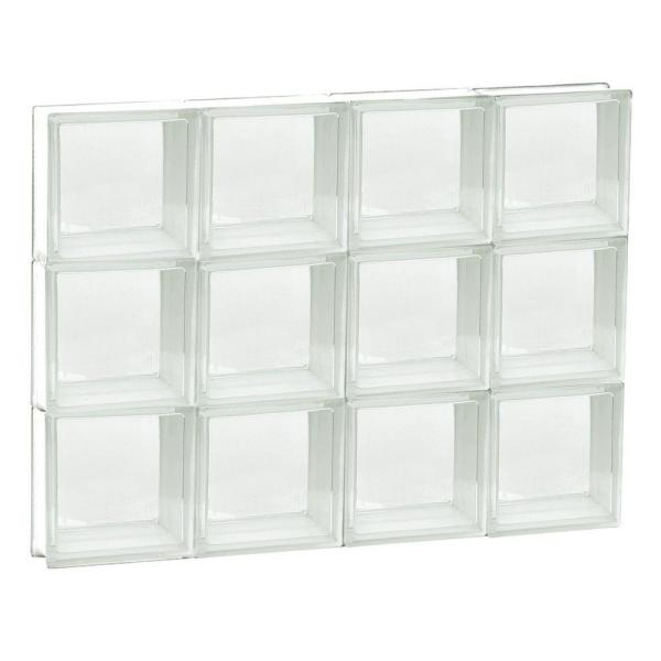 31 in. x 23.25 in. x 3.125 in. Frameless Non-Vented Clear Glass Block Window