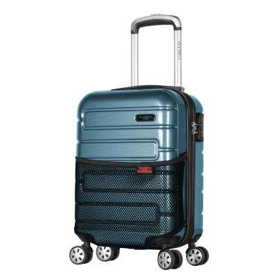 Nema 18 in. Teal Under the Seat Carry-On PC Hardcase Spinner with TSA Lock