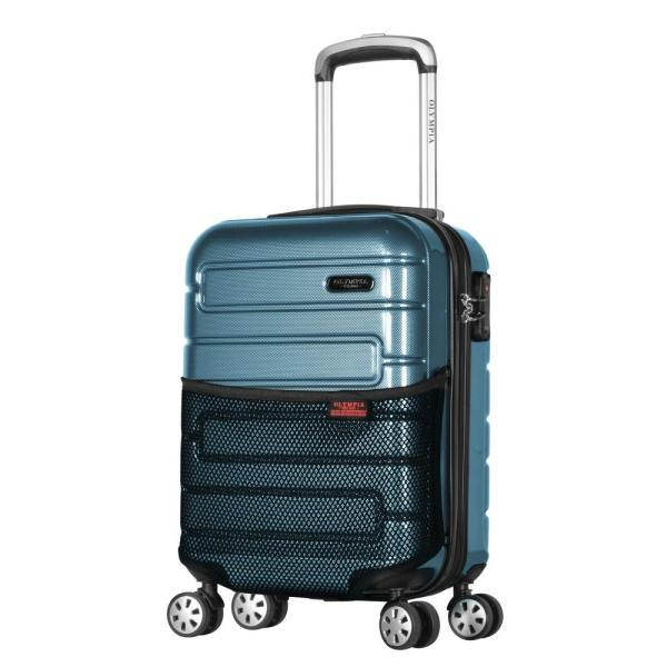 Olympia USA Nema 18 in. Teal Under the Seat Carry-On PC