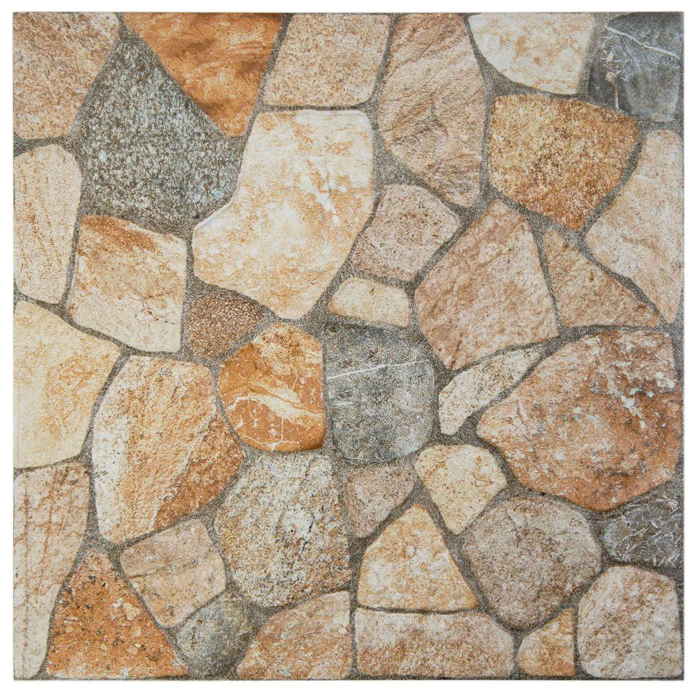 Merola Tile Rhin Rustico 12-1/4 in. x 12-1/4 in. x 8 mm Porcelain Floor and Wall Tile (12.65 sq. ft. / case)