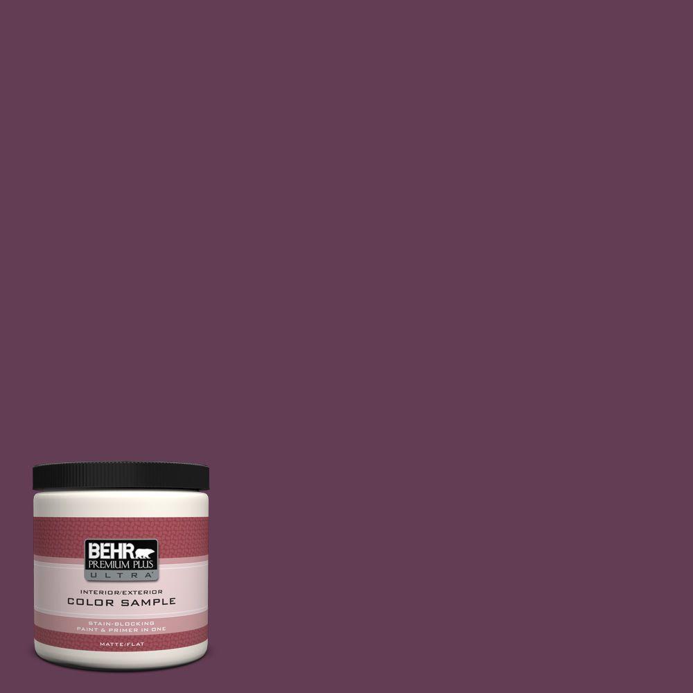 BEHR Premium Plus Ultra 8 oz. #S-G-690 Delicious Berry Interior/Exterior Paint Sample