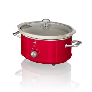 Retro 3.7 Qt. Red Slow Cooker