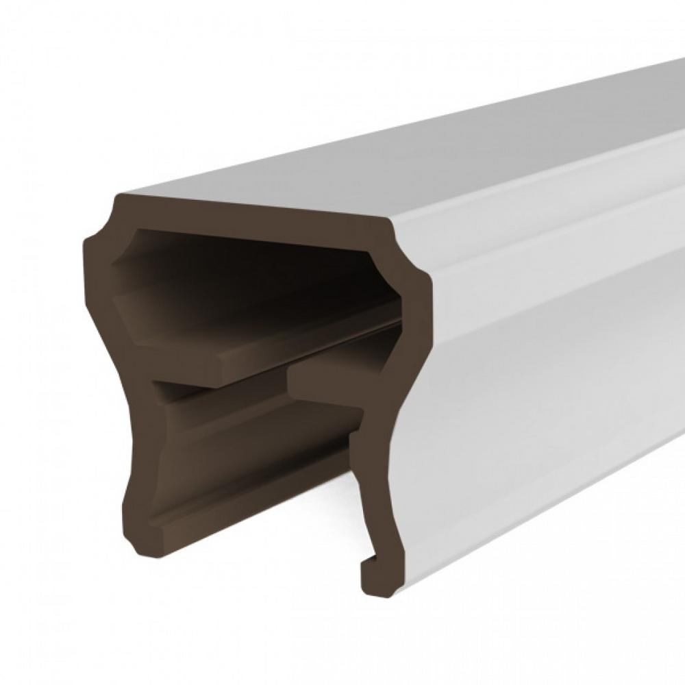 White Resalite Composite 96 in. Transform Top Rail Emerge