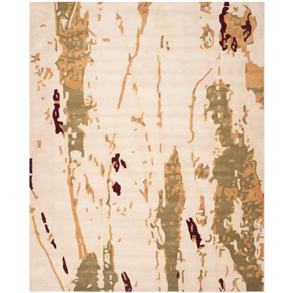 Bella Beige/Green 8 ft. x 10 ft. Area Rug