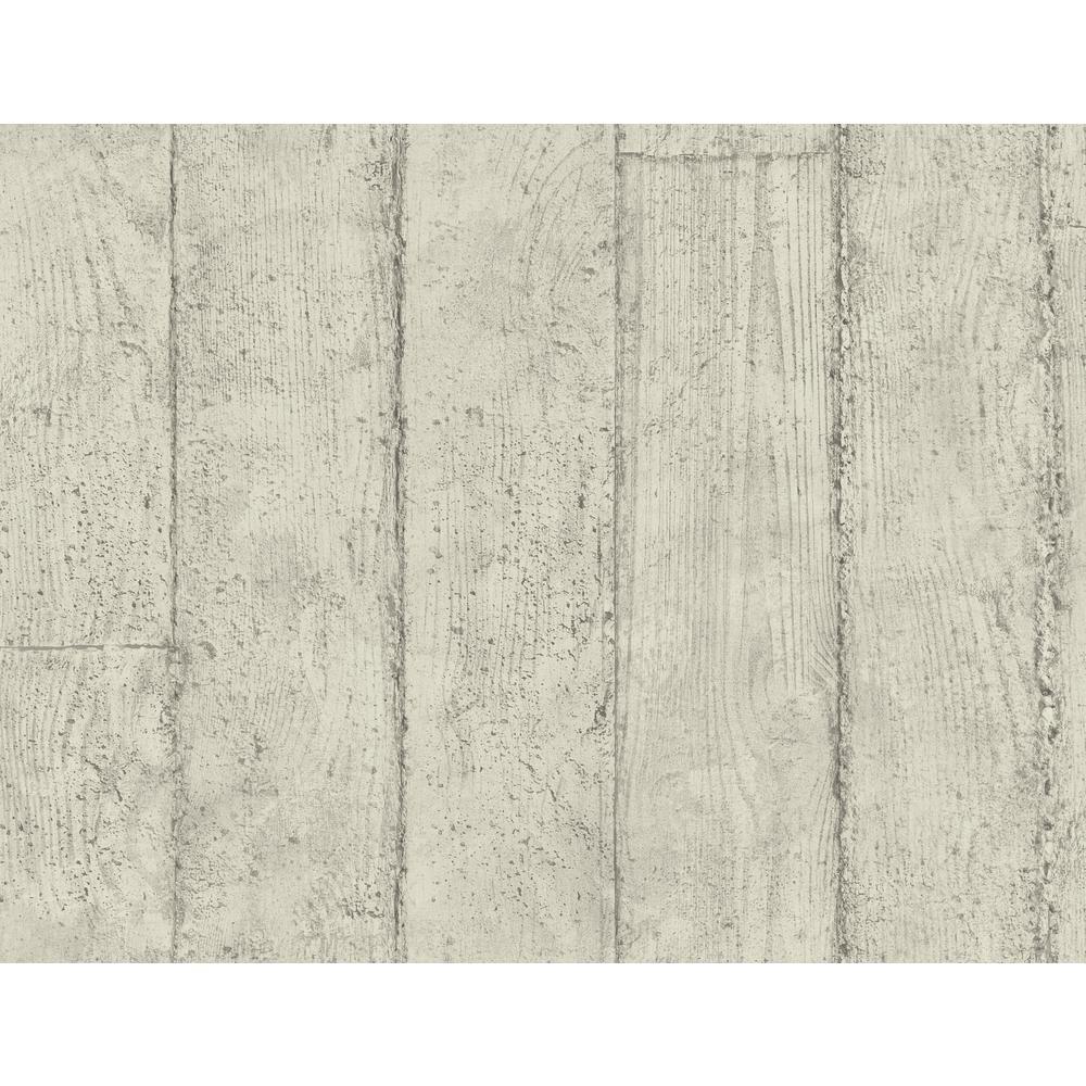 Manhattan Gray Concrete Plank Wallpaper